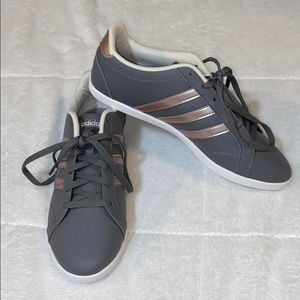 Adidas Gray and Rose Gold Lightweight Sneakers